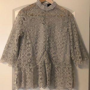 NWOT Chicwish Lacey peplum blouse